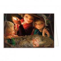 Tarjeta Christmas LUZ DE UNA VELA
