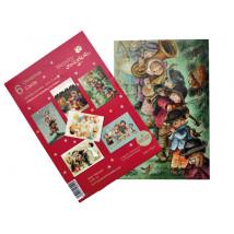 Tarjetas navideñas, Christmas Ferrándiz,serie VILLANCICOS, Pack 6 unidades, CHPK 23,