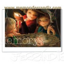 Tarjeta Christmas, Memory Ferrándiz- LUZ DE UNA VELA-