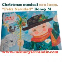 "Tarjeta Musical ""Pastor"" + luces. Villancico ""Feliz Navidad"" de BoneyM"