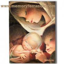 Tarjeta Christmas VIRGEN COLOR (L) 15 x 19 cm