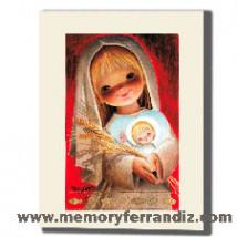 Cuadro en lienzo digital, Serie Roja Niña, Ferrándiz