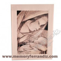 Cuadro en lienzo digital Ferrándiz-VIRGEN EN COLOR SEPIA- Numerado, © Memory Ferrándiz