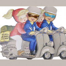 Cuento Olga y Jorge en Vespa Ferrándiz Memory