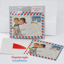 Mini tarjetas-etiquetas regalo Ferrándiz CARTAS REYES (3R)  Ferrándiz, autoadhesivas. 7 X 5,5 cm