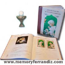 "Libro de Recuerdos Primera Comunión ""Serie Verde Niño"""