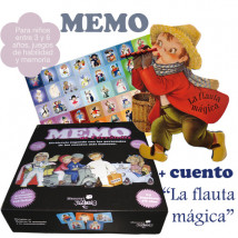 """Juego MEMO + cuento troquelado """"La flauta""""."""