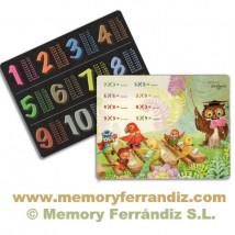 """Tabla de multiplicar Ferrándiz, """"Búho""""  Memory Ferrándiz"""