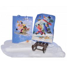 Bolsas Navidad  papel regalo NIÑOS ESQUIANDO, Ferrándiz, XL con etiqueta, 46x32x10 cm