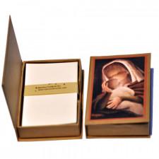 """Cajita notas """"Virgen cálida"""". Cartón reciclado. Ferrándiz"""