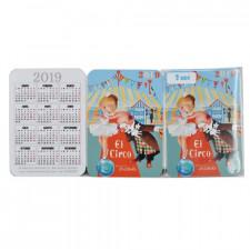 Calendarios bolsillo CIRCO 2019.  7x 9,5 cm, Memory Ferrándiz