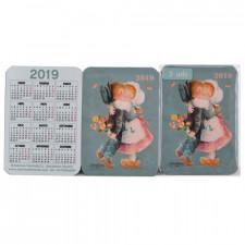 Calendarios Ferrándiz bolsillo PAREJA 2019.  7x 9,5 cm, Memory Ferrándiz