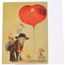 Tarjeta Christmas Ferrándiz GLOBO PAX,  12x17 cm
