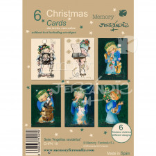 Christmas Ferrándiz, ANGELITOS NAVIDEÑOS, pack 6 tarjetas 12x17cm + sobres blancos