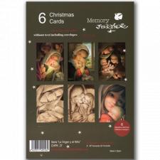 Christmas Ferrándiz, serie LA VIRGEN Y EL NIÑO, Pack 6 tarjetas variadas,CHPK 27