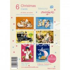 Christmas Ferrándiz, ANGELITOS. CHPK 4. 6 tarjetas x 6 modelos
