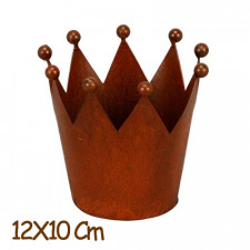 """CORONA REYES MAGOS """"LUXE"""" multiusos metal rústico, 12x10 cm. Acabado lujo con bola en los extremos. REGALO Pack Servilletas Reyes por la compra de 3 coronas."""