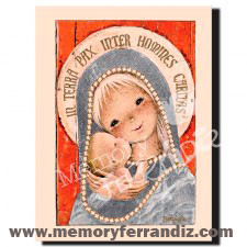 CUADRO en lienzo digital Ferrándiz  -Virgen Gótica plateada- © Memory Ferrándiz