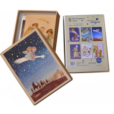Christmas Ferrándiz, MINI, ANGELITOS Angelitos, en Caja ilustrada, vintage  (9 x 13 cm)