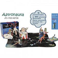 20 piezas puzzle y 8 personajes del Cuento -Amadeo el Astronauta-
