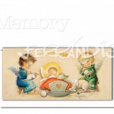 Christmas tarjeta Ferrándiz ANGELITOS DE LA GUARDA,10 x 21 cm