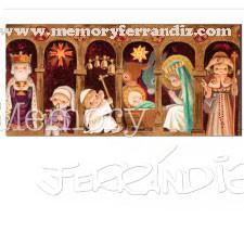 Tarjeta Christmas -Variación Arcos Papa Francisco-Memory Ferrándiz