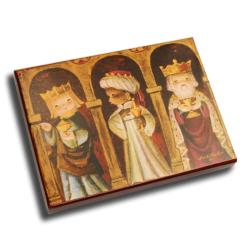 Caja Bombones o multiusos,  Reyes Magos dorados, Memory Ferrándiz