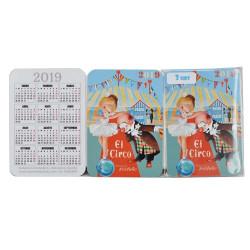 Calendarios Ferrándiz bolsillo CIRCO 2019.  7x 9,5 cm, Memory Ferrándiz