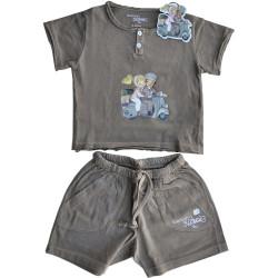 Camiseta y pantalón corto -VESPA- Memory Ferrándiz. Color topo