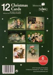 "Pack 12 Christmas+ sobres  (12 x 17cm). Serie ""Monaguillos""· CHPK 3"