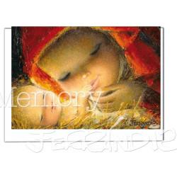 Tarjeta Christmas Ferrándiz  EL BESO, 12 X 17 cm