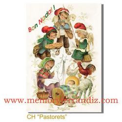 Tarjeta Christmas Ferrándiz PASTORETS, NUEVA, 12 X 17 cm