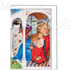 Tarjeta Christmas Memory Ferrándiz REYES DE ORIENTE.  12 X 17 cm