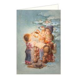 Tarjeta Christmas Memory Ferrándiz CANTANDO BAJO LA NIEVE