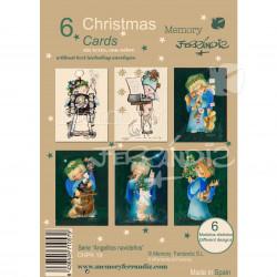 """Pack 6 Christmas + sobre. Serie """"Angelitos Navideños"""". CHPK19"""