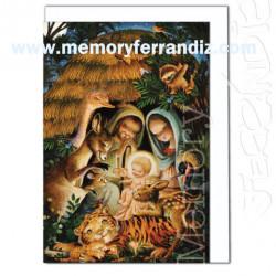 Tarjeta Christmas, Memory Ferrándiz- BELÉN AUSTRALIANO-