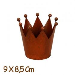 """CORONA REYES MAGOS """"LUXE"""" multiusos metal rústico, 9x8,5 cm. REGALO Pack Servilletas Reyes por la compra de 3 coronas."""