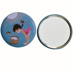 """Espejo """"Niña Luna"""". 76 mm"""