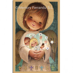 Estampas Comunión Ferrándiz -ANGELITO DORADO- Memory Ferrándiz-