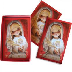 Ferrándiz Communion Box Cards RED SERIES GIRL 7,5X12cm: 50 units
