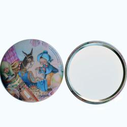 Espejo Ferrándiz -ALIBABÁ- 76 mm. Espejo de bolsillo con la imagen del tesoro del cuento de Alibabá