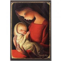 Imán Virgen vestido rojo 53x78 mm Memory Ferrándiz