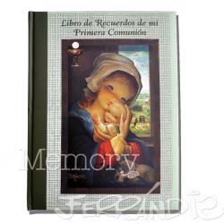 """Libro de Recuerdos Primera Comunión """"VIRGEN VENTANA"""". NUEVO Lomo, LB CM 8 OM."""