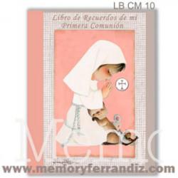 Libro Álbum de Recuerdos de mi Primera Comunión -NIÑA ROSA- Memory Ferrándiz