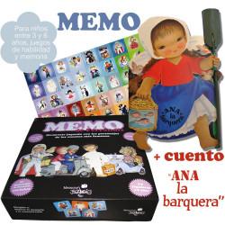 "Juego MEMO + cuento ""Ana la barquera""."