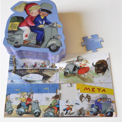 Puzzle. Olga y Jorge en vespa, Memory Ferrándiz