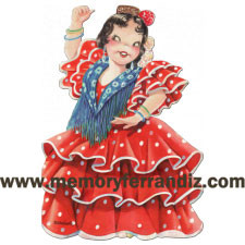 Panel troquelado Flamenca,  Memory Ferrándiz