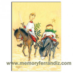 Christmas Card Ferrándiz, QUIJOTE & SANCHO 12x17cm