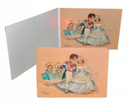 Tarjeta Boda Musical BODA RETRO+ sobre (23 x17 cm)