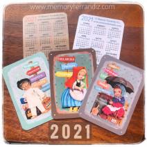 Calendarios bolsillo 2021. Pack 3 carteles cuentos